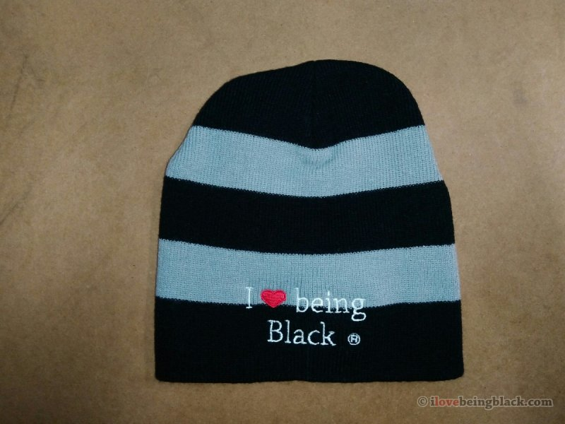 I Love Being Black Beanie - Click Image to Close