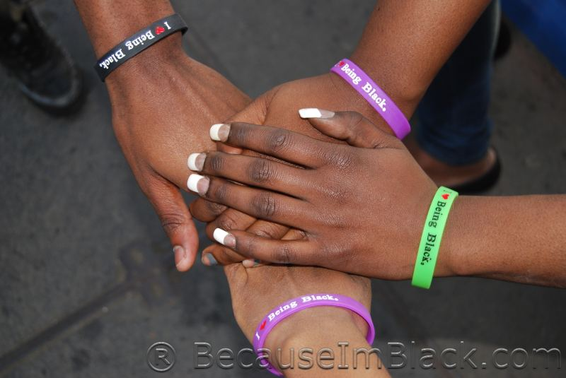 I Love Being Black Silicone Wristband - Click Image to Close