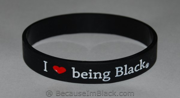 I Love Being Black Silicone Wristband Silicone Wristband