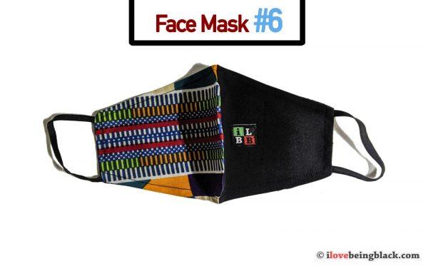 African print fabric face mask coronavirus covid19
