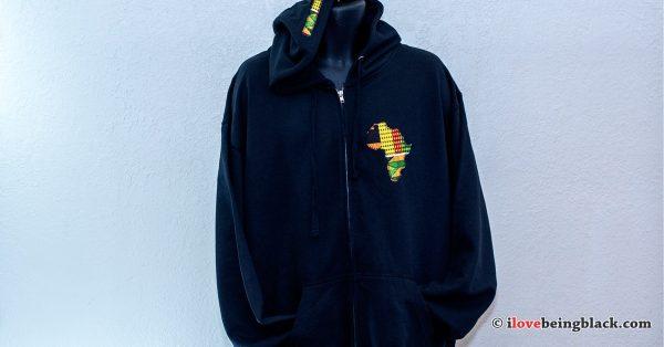 Full zip AfriHoodie