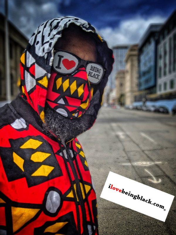 Ndebele face mask w/ matching jacket