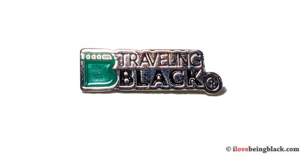 Traveling Black lapel pin