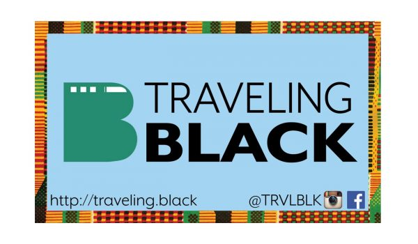 Traveling Black sticker