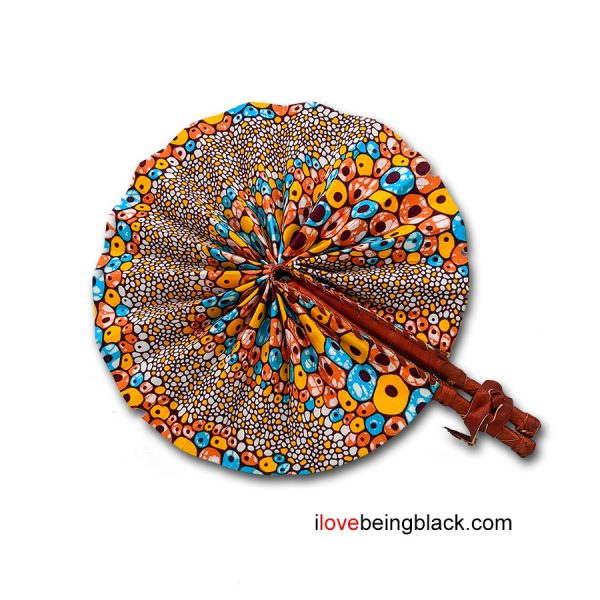 Handmade African Print Fan (Ghana)