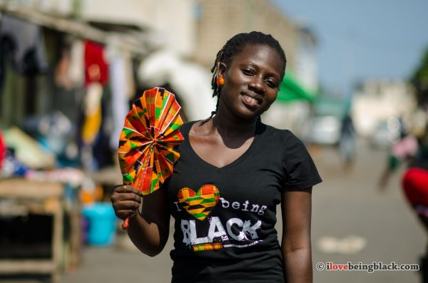African print fan and AfricaniTee