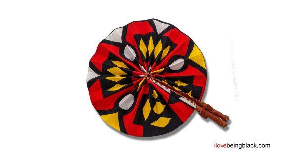 African print fan