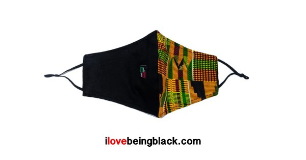 Adjustable African print face and chin masks