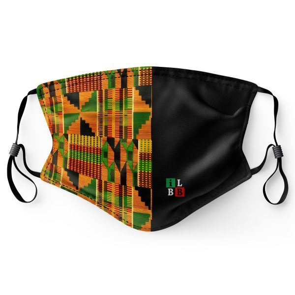 adjustable face mask - kente