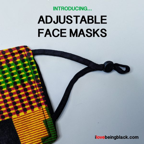 Adjustable face masks - kente