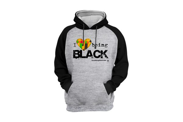 African Heart 2-tone hoodie with kente fabric